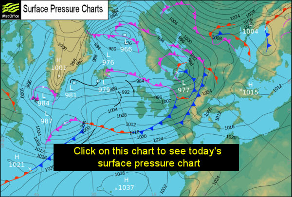 Met Office Atlantic Pressure Chart